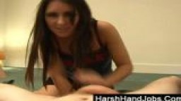Jess West gives a harsh handjob