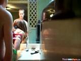 Dirty Talking Girl Bathroom Creampie