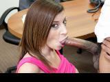 Sara Jay Sucks A Big Black Cock Until It Cums