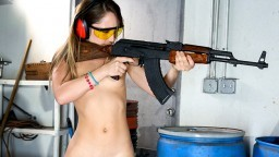 Remy LaCroix  Dirty Blonde White Girl Shoots Guns and Sucks Dick