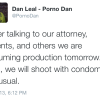 Porno Dan Hoist With His Own Petard After Announcing He Would Defy Production Moratorium