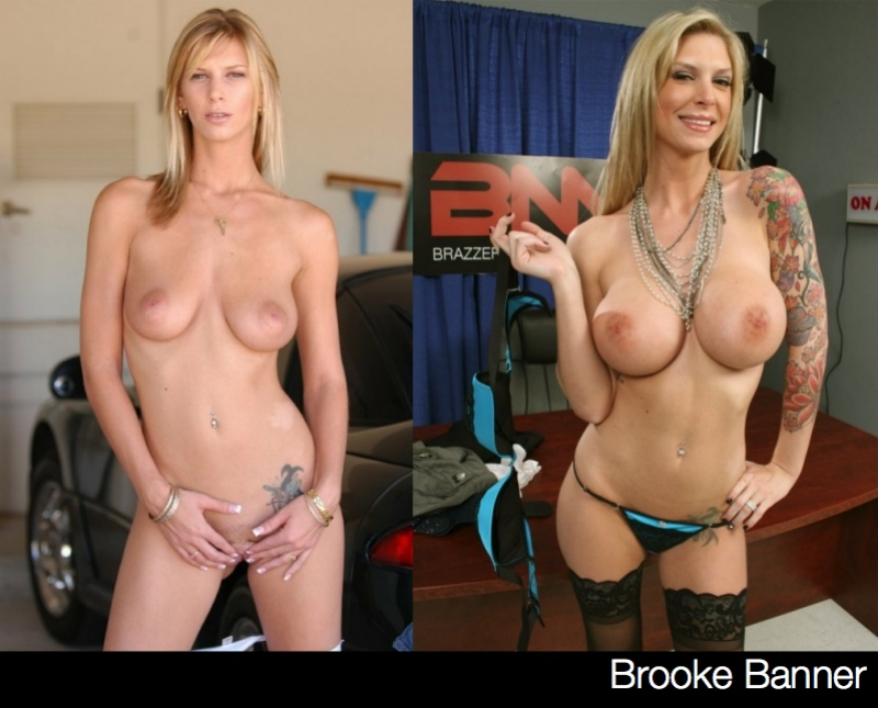 Brooke Banner Porn Star Boob Jobs: Before & After
