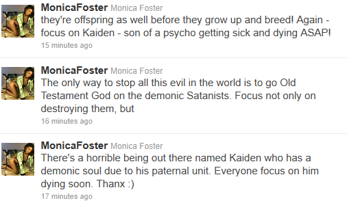Monica Foster monicafoster on Twitter 1322958268973 Monica Foster: A Stalker Who Hates Kids and Porn Stars