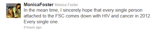 Monica Foster monicafoster on Twitter 1323046062179 Monica Foster, A Stalker Who Hates Kids And PornStars