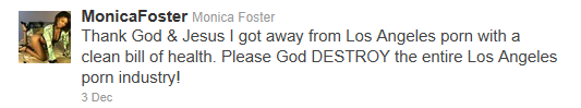 Monica Foster monicafoster on Twitter 1323046596924 Monica Foster: A Stalker Who Hates Kids and Porn Stars