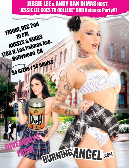 """""""JESSIE LEE GOES TO COLLEGE"""" release party hosted by Jessie Lee and Andy San Dimas"""