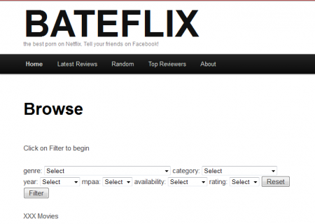 Bateflix: Porn Search Engine For Netflix