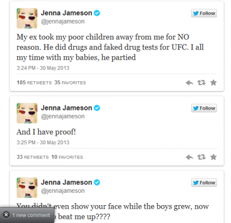 Former porn star Jenna Jameson attacks ex-UFC champ Tito Ortiz on Twitter - News_FOX Sports on MSN_20130531-131212