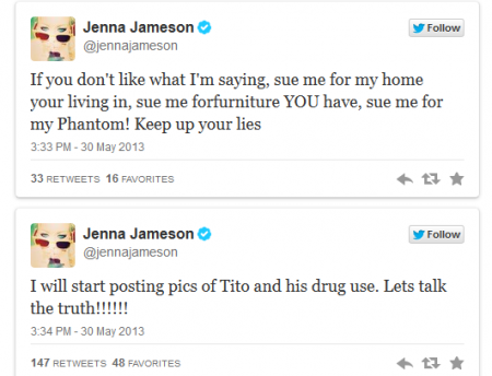 Former porn star Jenna Jameson attacks ex-UFC champ Tito Ortiz on Twitter - News_FOX Sports on MSN_20130531-131355