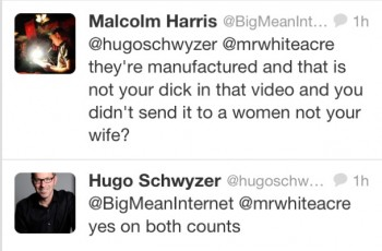 Hugo says fabricated 350x230 HugoLeaks: Male Feminist Hugo Schwyzer's Sexting Scandal Exposed (NSFW)