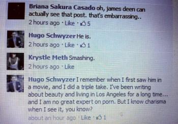 Hugo Schwyzer loves James Deen's charisma
