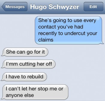 Cutting her off 350x339 Hugo Schwyzer Comes Clean on Suicide, Cheating, and Being A First Rate Fraud The TRPWL Interview