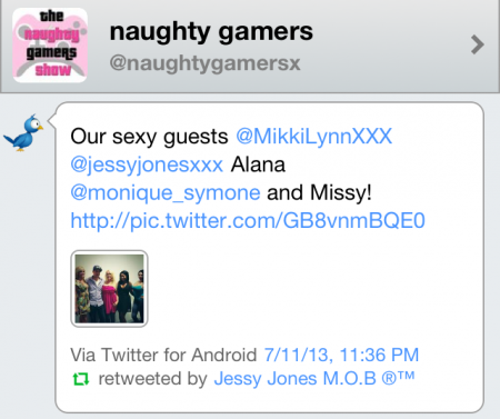 Jessy on Naughty Gamers