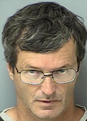 Predator: Registered sex offender James Lyons, 52, has been arrested for allegedly having sex with a dog a week after he was hit with similar charges involving his neighbor's pet.