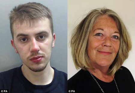 Jack Huxley, left, pleaded guilty to killing step-grandmother Janis Dundas, right, at her home in Ellesmere Port, Cheshire.