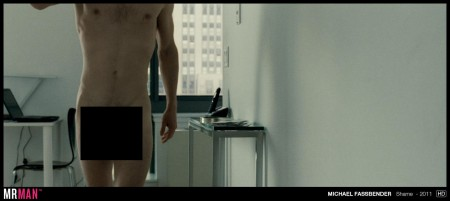 A rising star of the male nudie circuit, Michael Fassbender, in Shame.