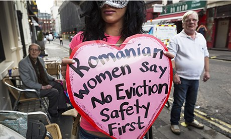 A protest in Soho by sex-workers