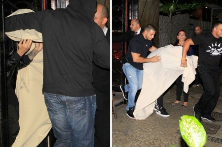 Bieber allegedly sneaking out of a Brazilian brothel.