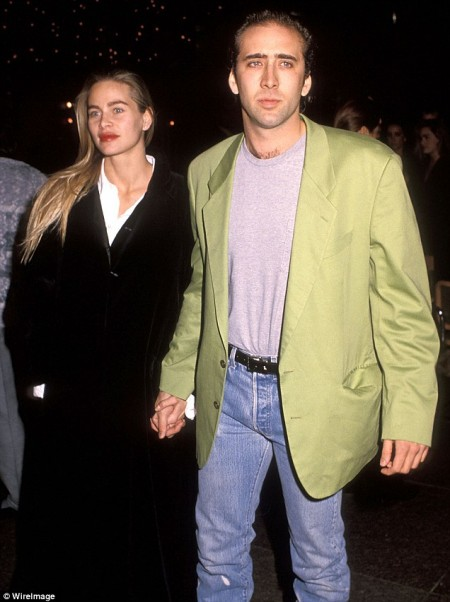 Nicolas and Christina Fulton, shown together in November 1990 in West Hollywood, California, have a 22-year-old son, Weston.