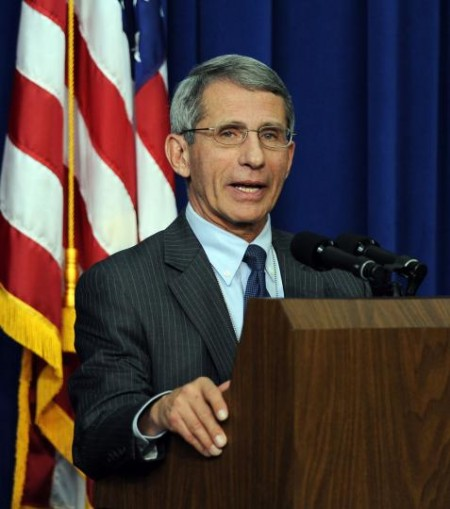 10-year effort to create vaccine to prevent genital herpes tested. National Institute of Allergy and Infectious Diseases Director Anthony Fauci. UPI/Roger L. Wollenberg.