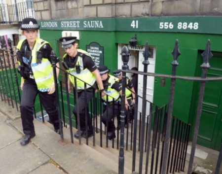 Saunas in Edinburgh have been subject to police raids. Picture: Phil Wilkinson
