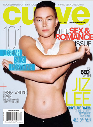 Porn Star Jiz Lee on Curve's Cover