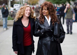 Sex workers advocate Valerie Scott, left, and Terri-Jean Bedford brought the case against Canada's prostitution laws. (Darren Calabrese/Canadian Press)