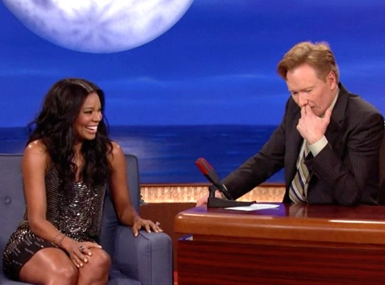 Gabrielle Union joins Conan O'Brien and reveals 'I'm on the porn diet'