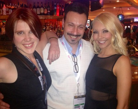 Lily Cade, Michael Whiteacre and Aaliyah Love - AVN Adult Entertainment Expo (AEE) - Day One