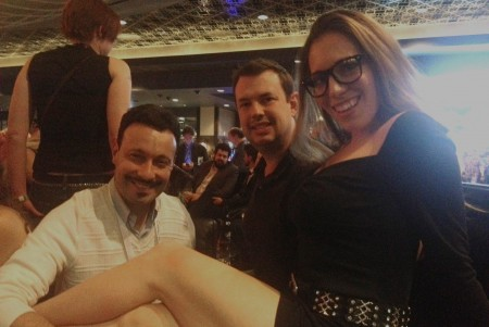Michael Whiteacre with Mo Reese and Samantha Grace - AVN Adult Entertainment Expo (AEE) - Day One