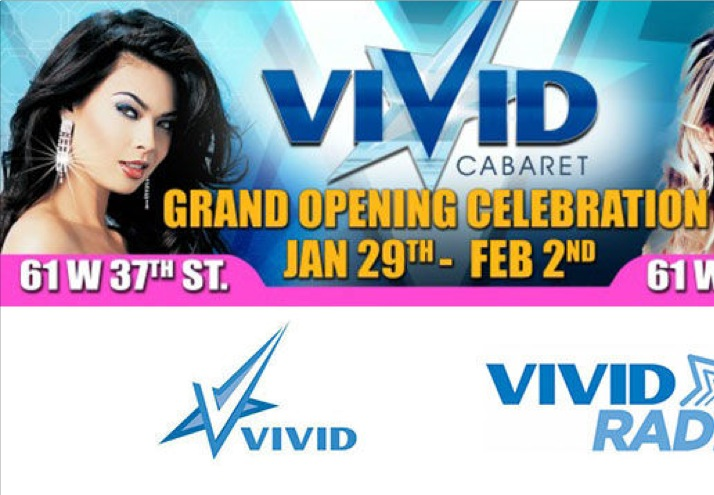 Vivid Cabaret NYC to Throw Grand Opening Parties Jan. 29 – Feb. 2