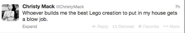 Christy Mack loves Lego