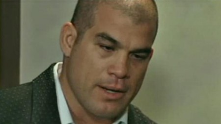 Tito Ortiz was arrested on suspicion of driving under the influence of alcohol after he crashed his car in West Los Angeles early Monday on Jan. 6, 2014. In this photo, Ortiz speaks at a press conference after being accused of domestic violence of then-girlfriend Jenna Jameson in 2010.