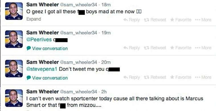 College wrestler suspended for homophobic tweets about Michael Sam
