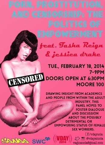 jessica drake, Tasha Reign to Speak at V-Day Event at UCLA February 18
