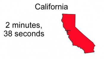 How long does sex last in California
