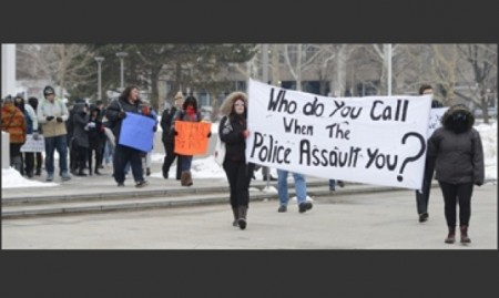 Protest over Hamilton police misconduct