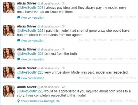 Alicia Silver backing Tee Reel's account