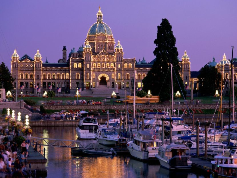 The Legislative Building in Victoria , British Columbia