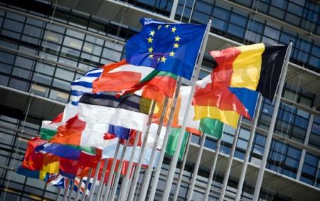 Flags of the European Parliament