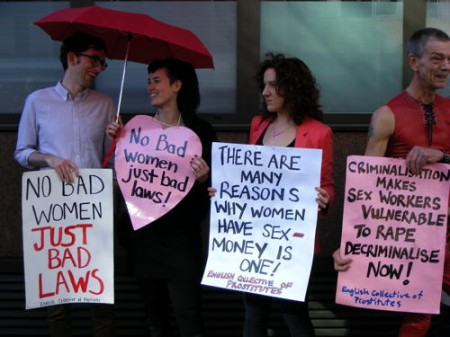 sex workers at the London protest