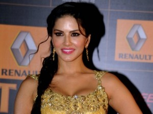 Indian Bollywood actress Sunny Leone poses during the Renault Star Guild Awards ceremony in Mumbai, January 16, 2014. STRDEL/AFP/Getty Images