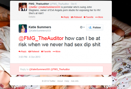 Katie Summers sums up her suit against John Stagliano in a single tweet