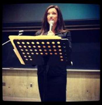 Tania speaking