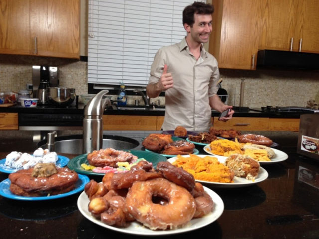James Deen takes on the doughnut