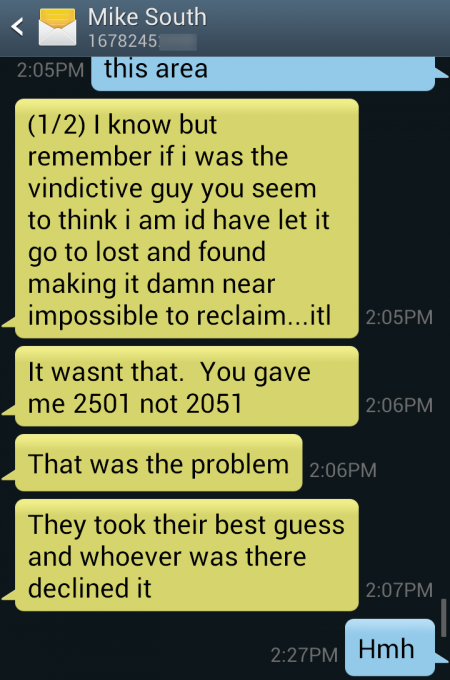 convo pic with souths phone number