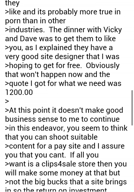 Mike South email 2