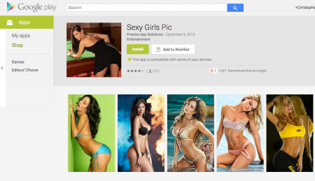 sexy girl apps Google Play 450x259 New Google Play Store App Guidelines Crack Down on Erotic Images