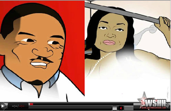 Mimi Faust, Nikko Cartoon Shower Rod Sex Tape Spoof VIDEO