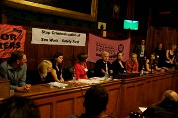 Sex Workers at parliamentary meeting